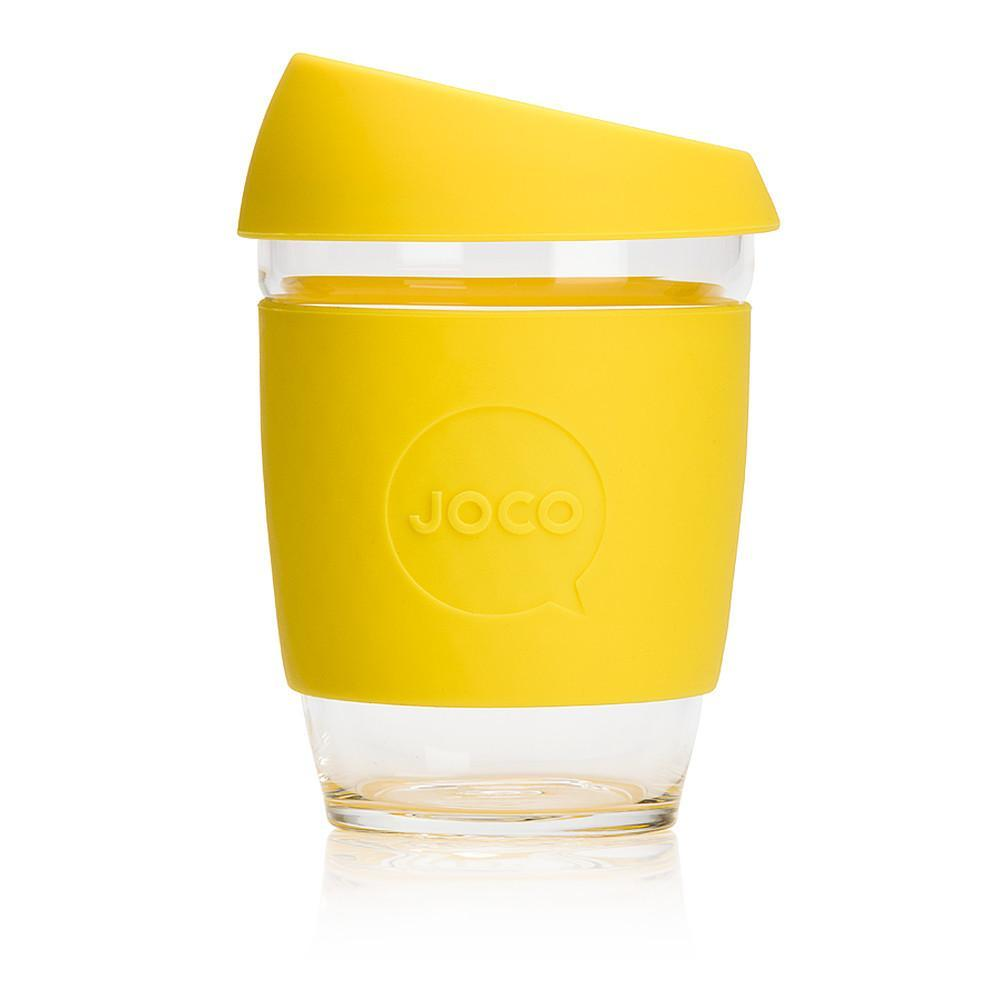 JOCO Cup Glass Coffee Cup - Lemon Yellow