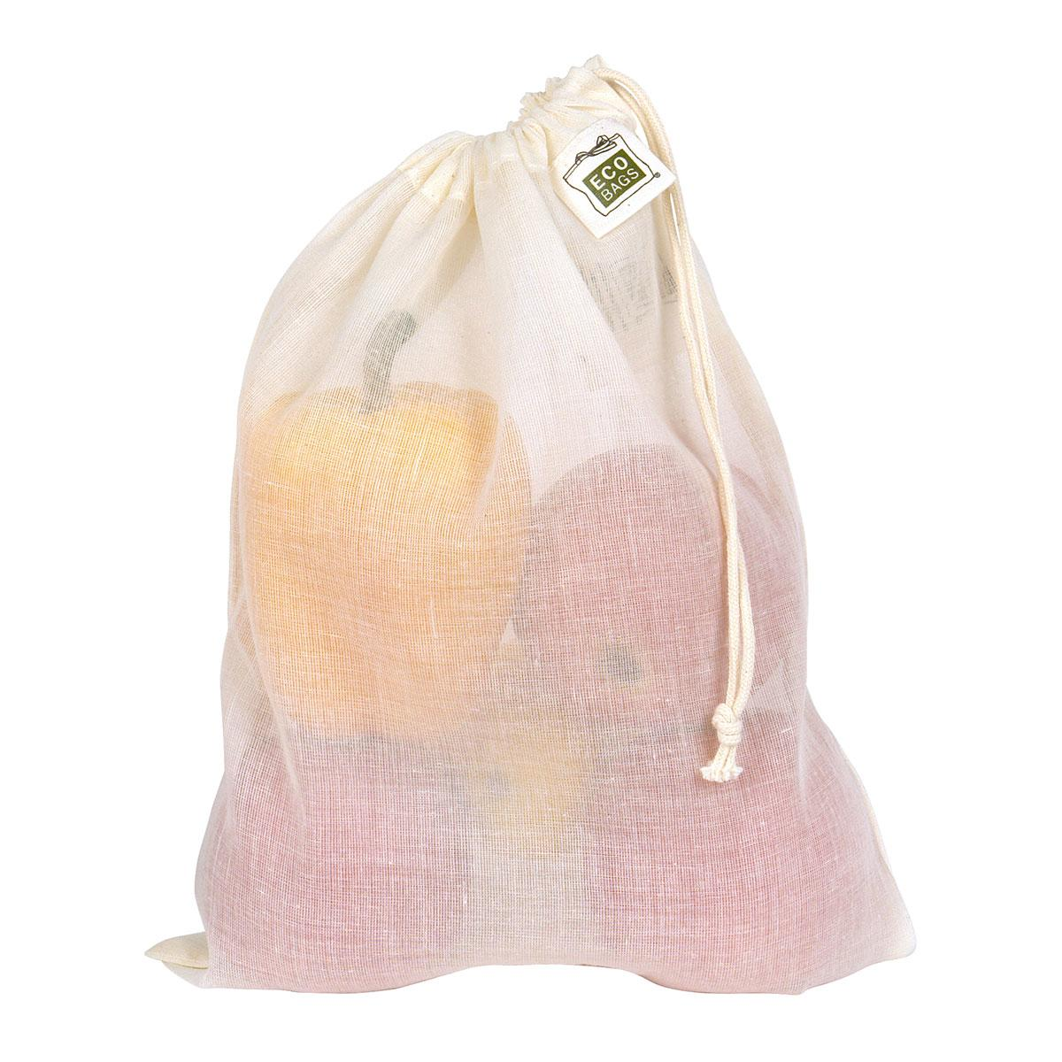 ECOBAGS Natural Cotton Grocery Bag - Medium