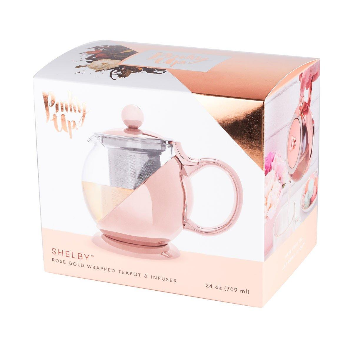 Shelby Rose Gold Wrapped Teapot & Infuser | ONLY £34.99
