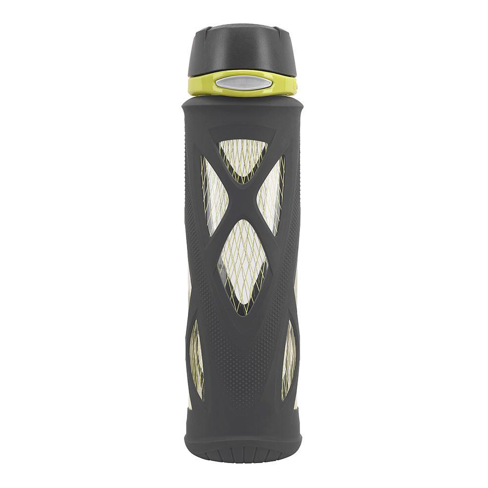 ZULU Atlas Glass Water Bottle - Black & Lime - Only £17.99 | Uberstar