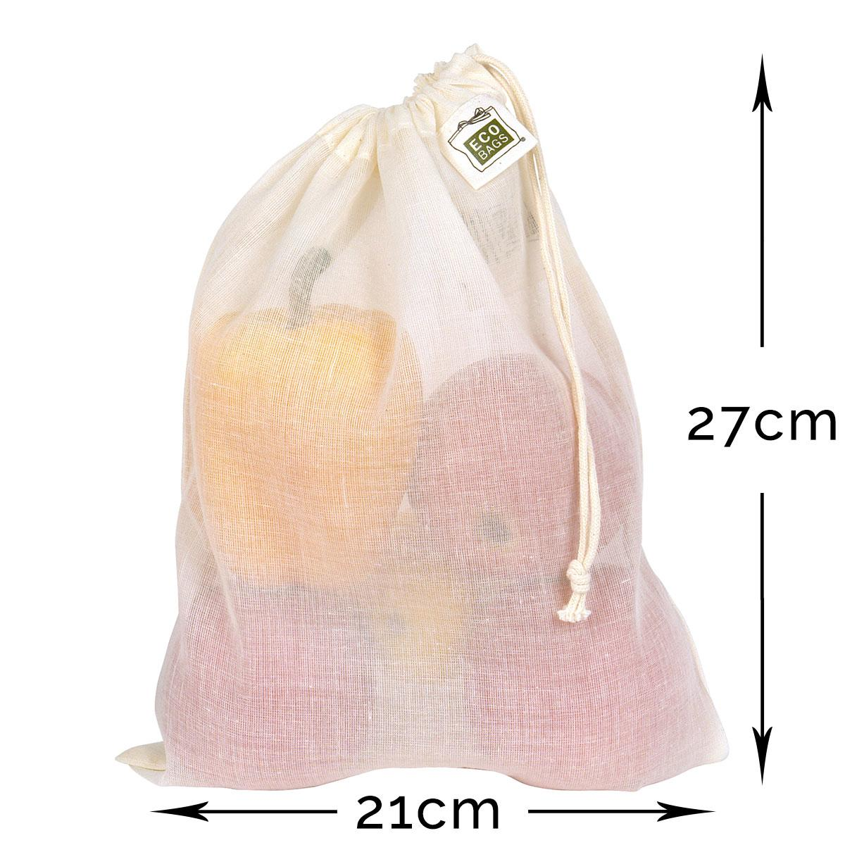 ECOBAGS Natural Cotton Grocery Bag - Measurements