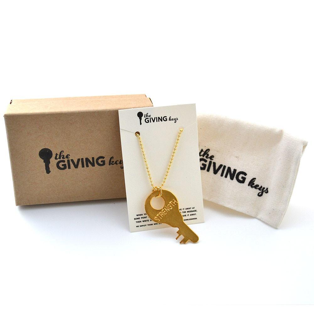 The Giving Keys Precious Metal Collection Strength Gold Necklace