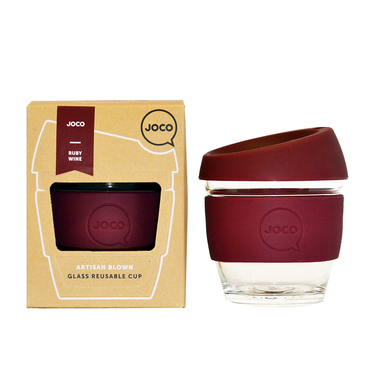 JOCO Cup Reusable Travel Mug - 8oz Ruby Red | Only £18.99