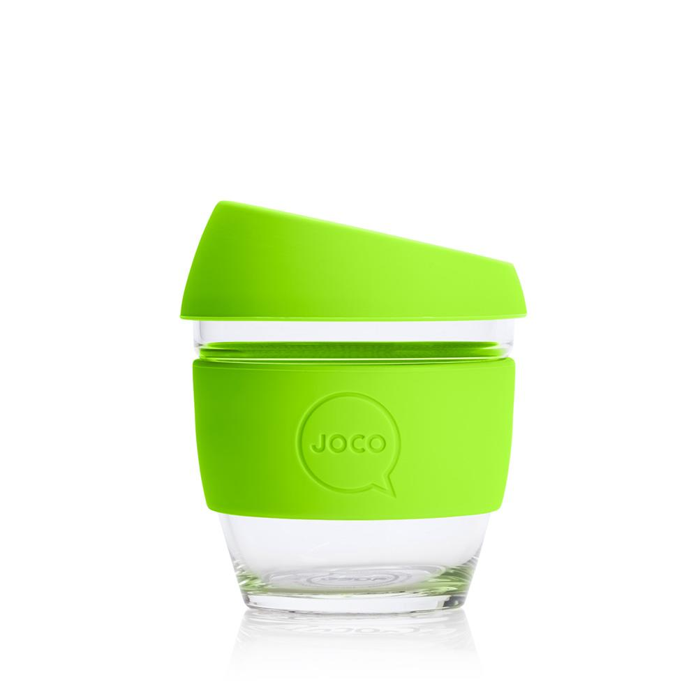 JOCO Cup 8oz Lime Green Glass Coffee Cup