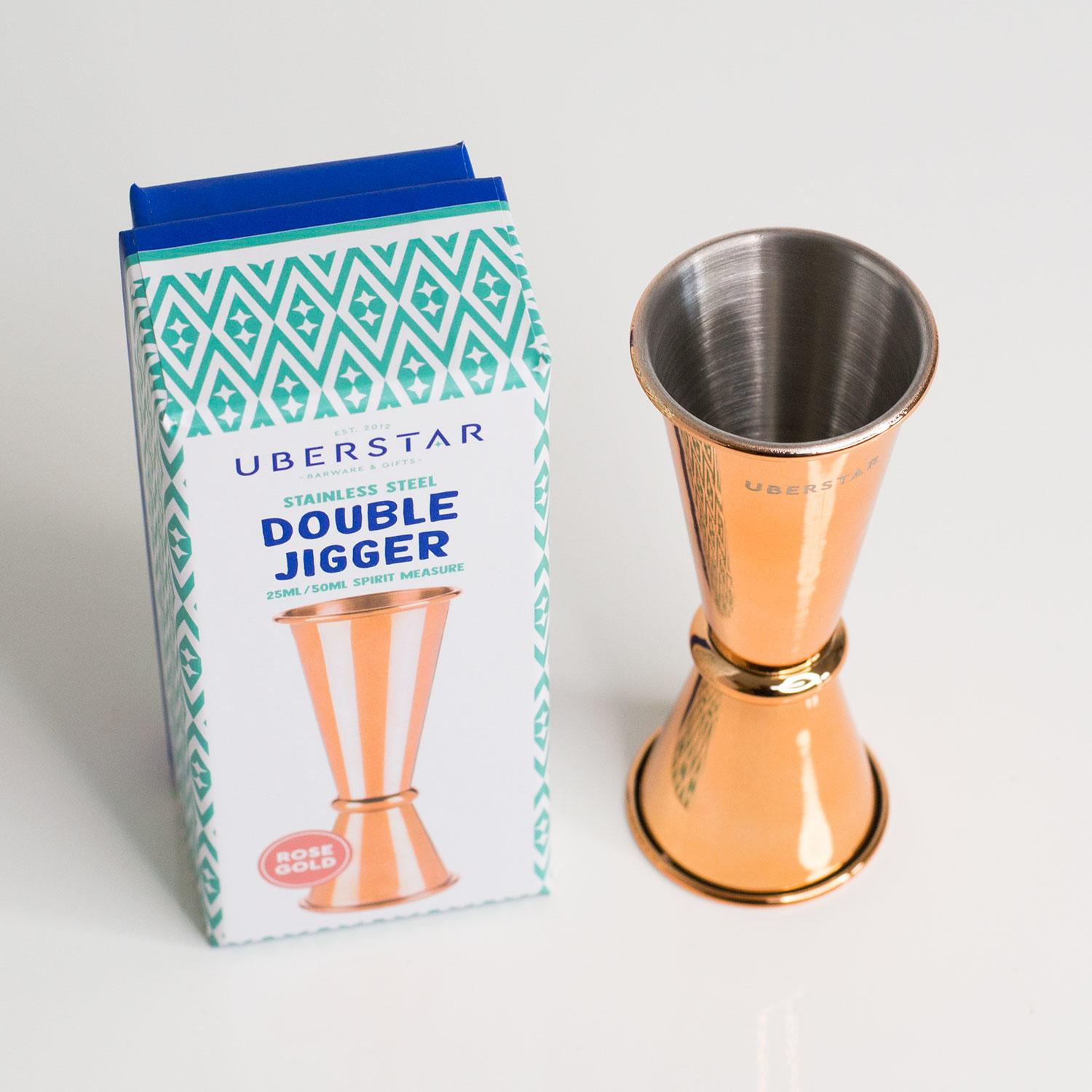Uberstar Double Jigger - Rose Gold £8.99