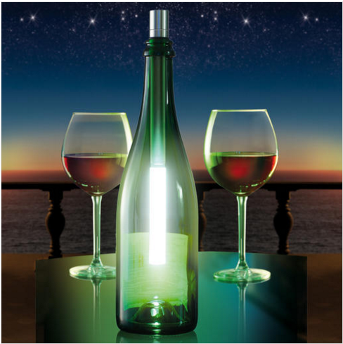 Bottlelight LED Light Wand makes a great table light. Just £24.99 from www.uberstar.com