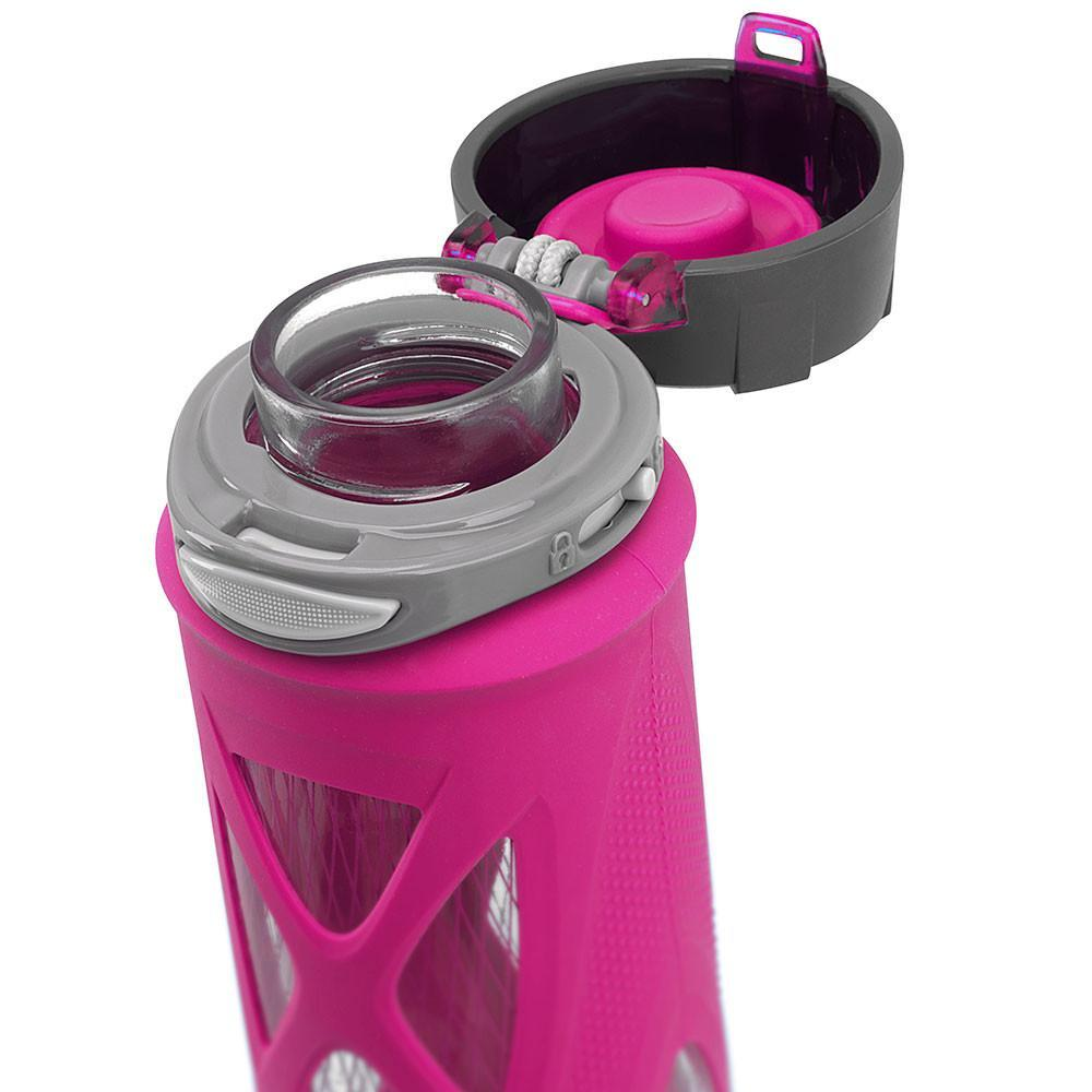 ZULU Atlas Glass Water Bottle - Pink - Only £17.99 | Uberstar