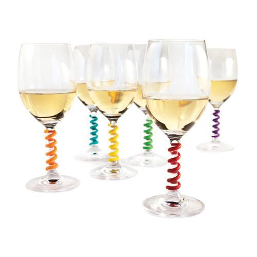 Wine Glass Stem Spring Charms
