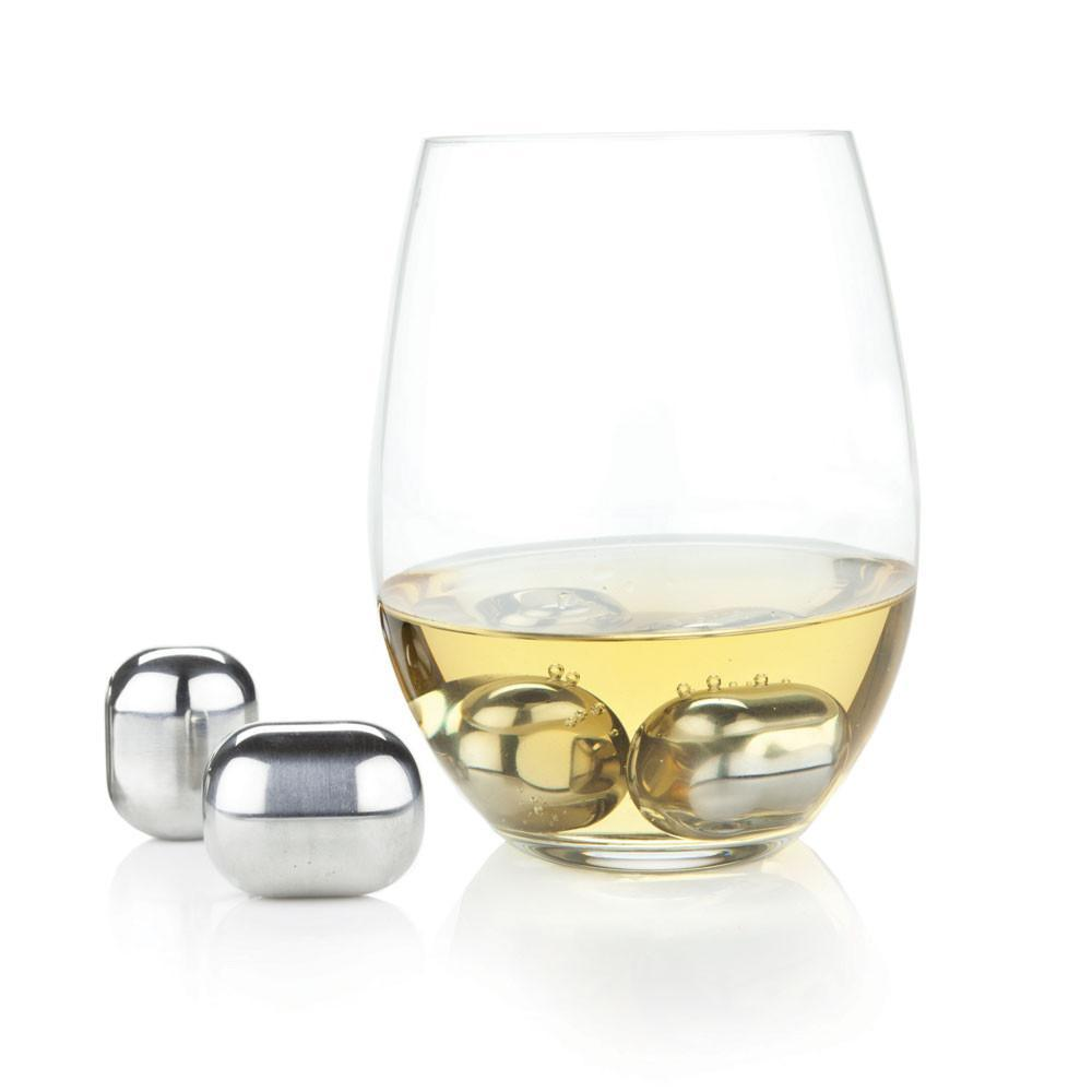 Stainless Steel Wine Globes - Ice Cubes for your wine! Only £25