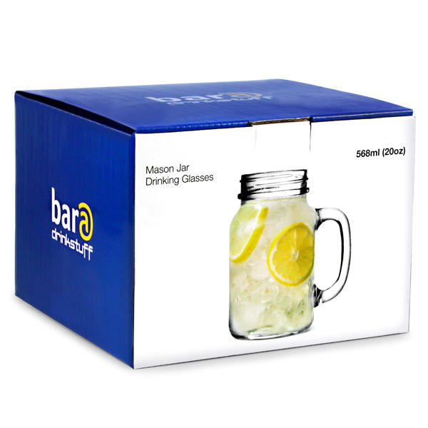 4 Pack of Drinking Jars