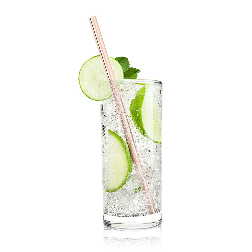 Viski Summit Copper Wide Straws - Set of 4 - Only £17.99