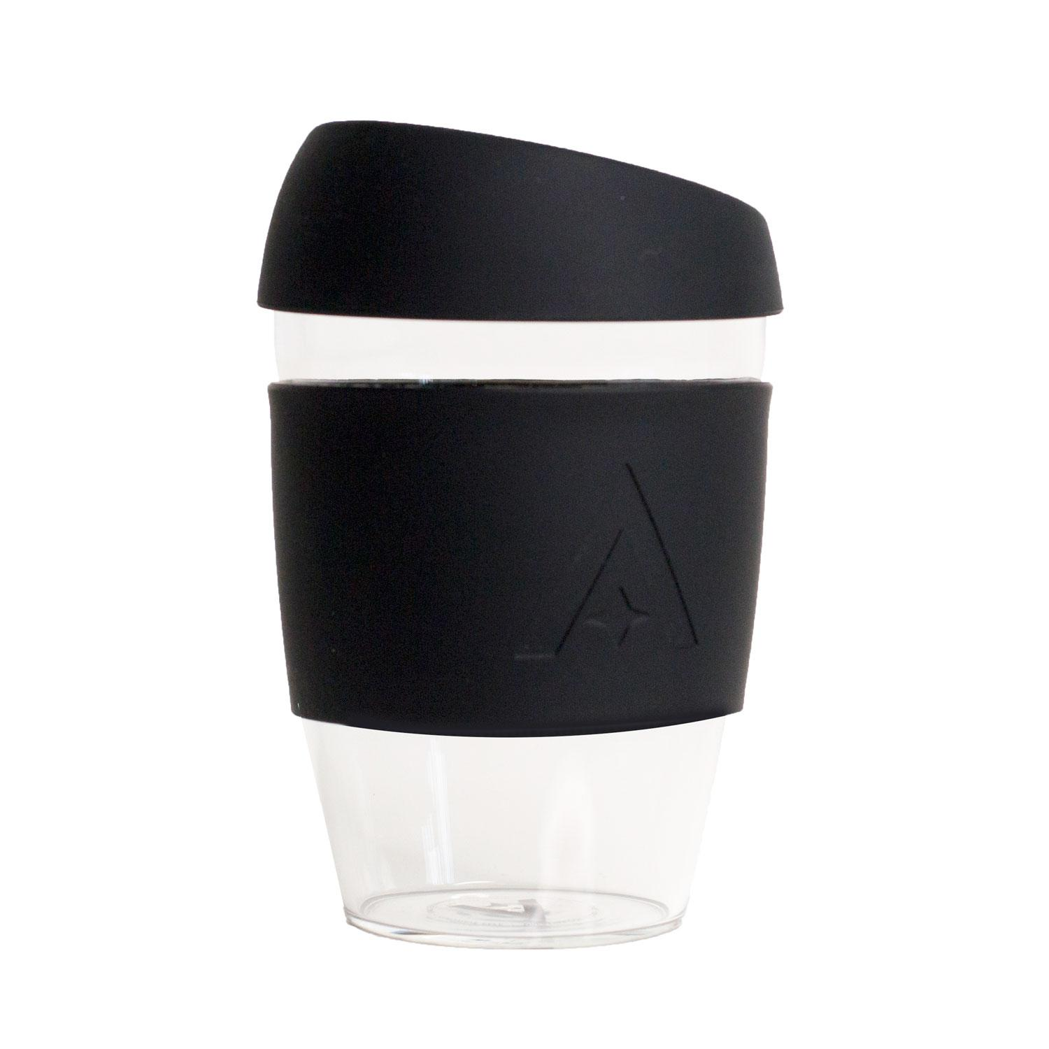 Uberstar Reusable Glass Travel Cup - Black - Only £14.99