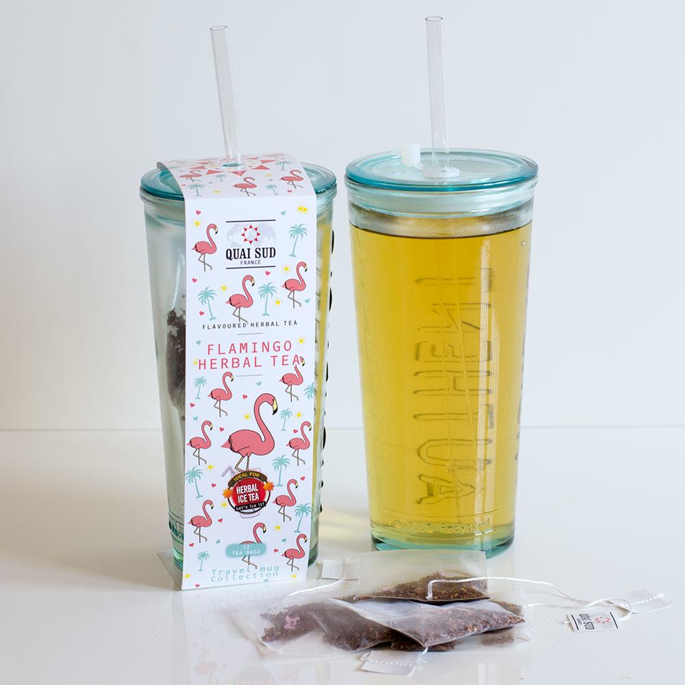 Flamingo Ice Tea and Travel Glass, Only £14.99 | Uberstar.com