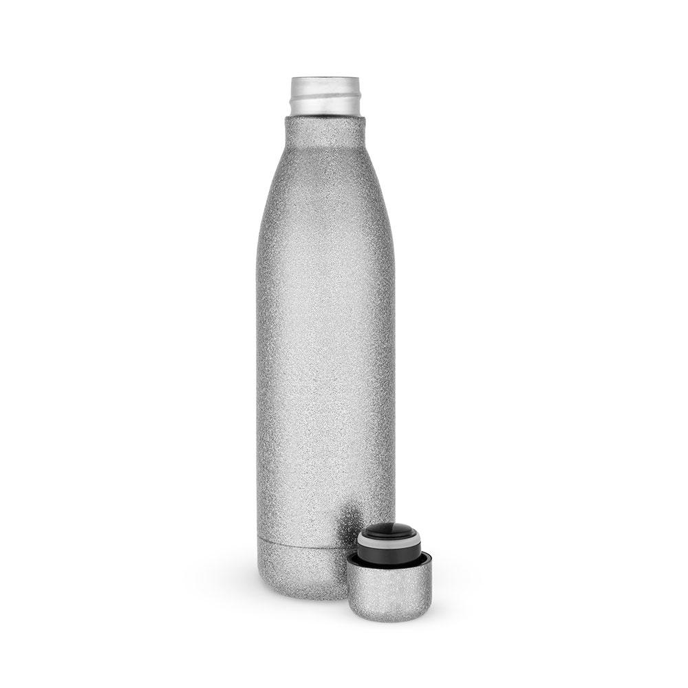 Comet Glitter Water Bottle - Silver