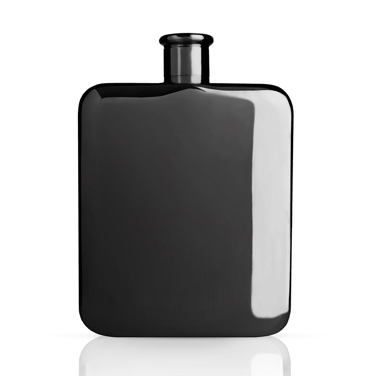 Warren Gunmetal Black Hip Flask