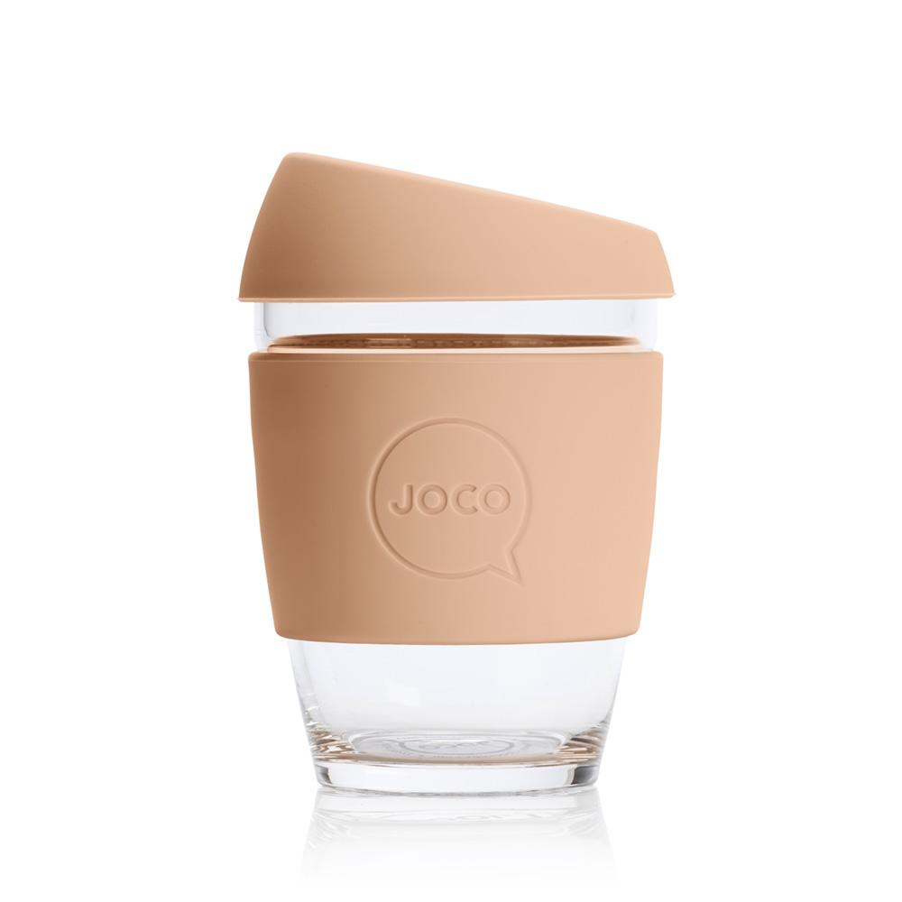 JOCO Reusable Glass Travel Coffee Cup - 12oz Amberlight