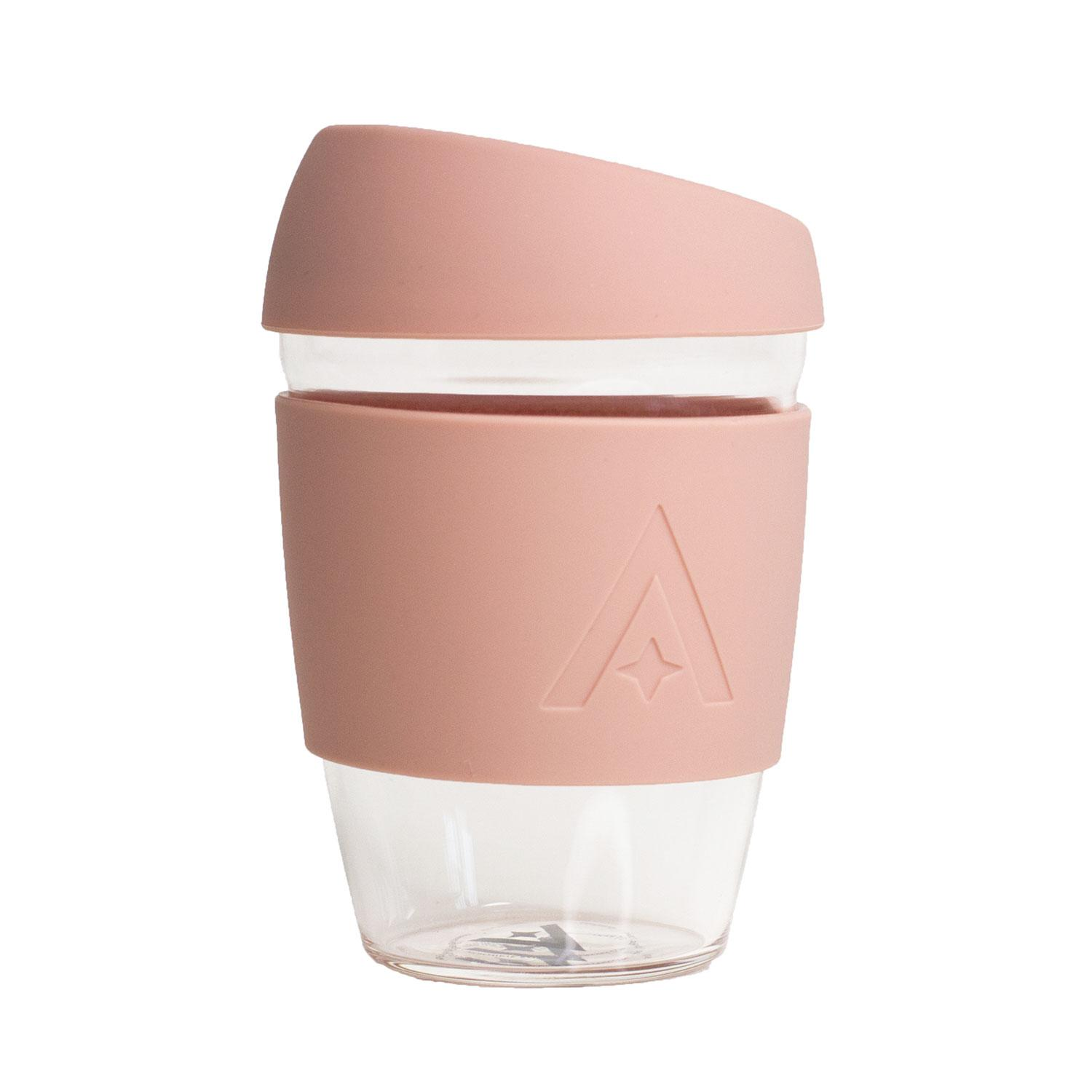 Uberstar Reusable Glass Travel Cup - Blush Pink - Only £14.99