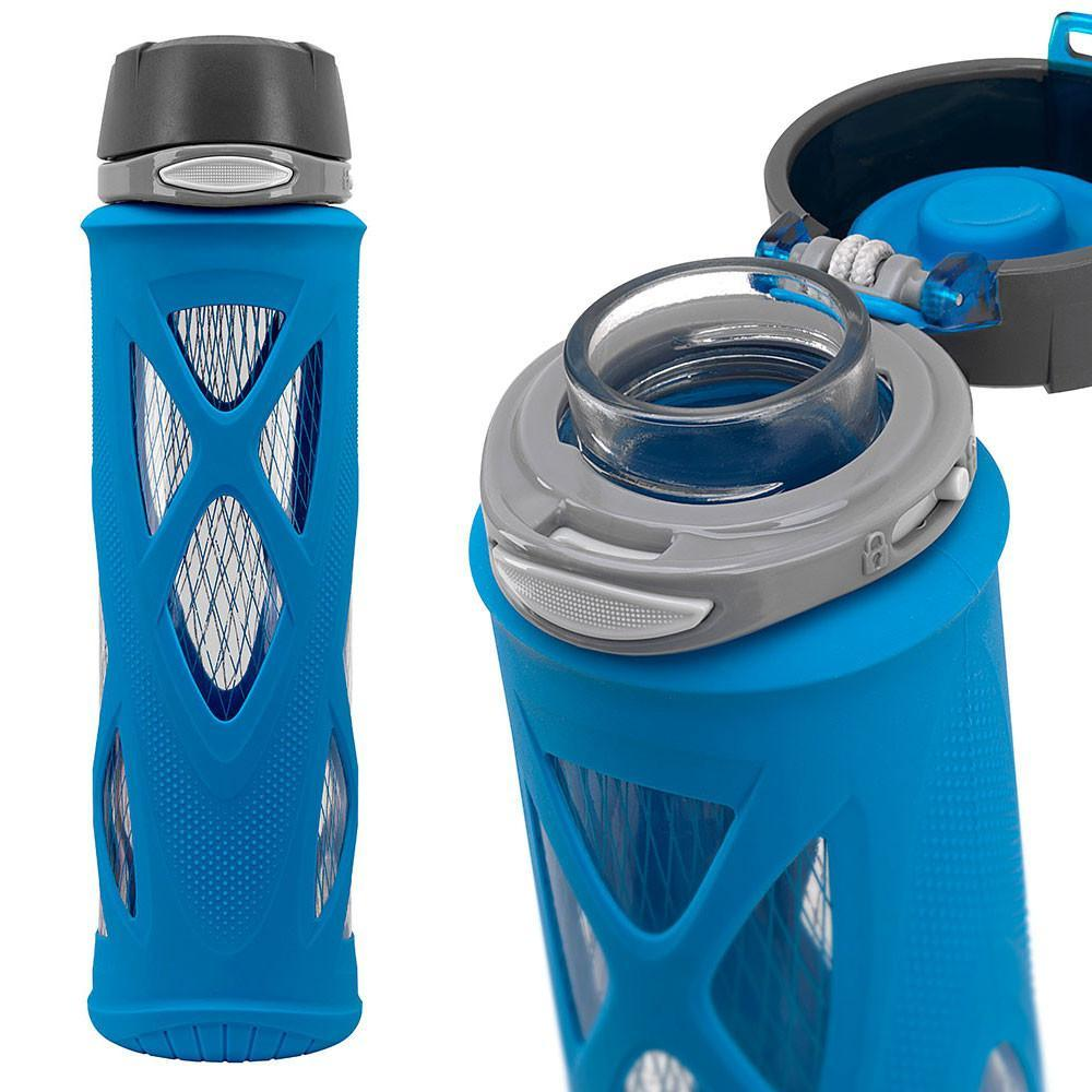 ELLO Syndicate Glass Water Bottle - Blue | Only £14.99