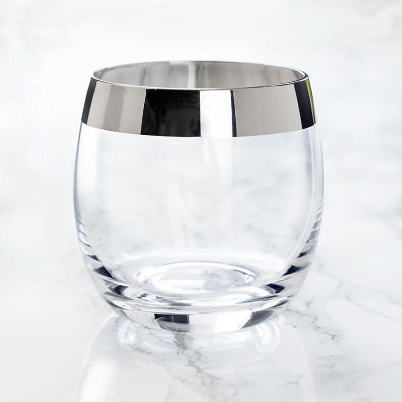 Irving Chrome Rim Crystal Glass Set - Only £24.99 | Uberstar