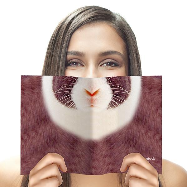 Animal Face Notebook Rabbit
