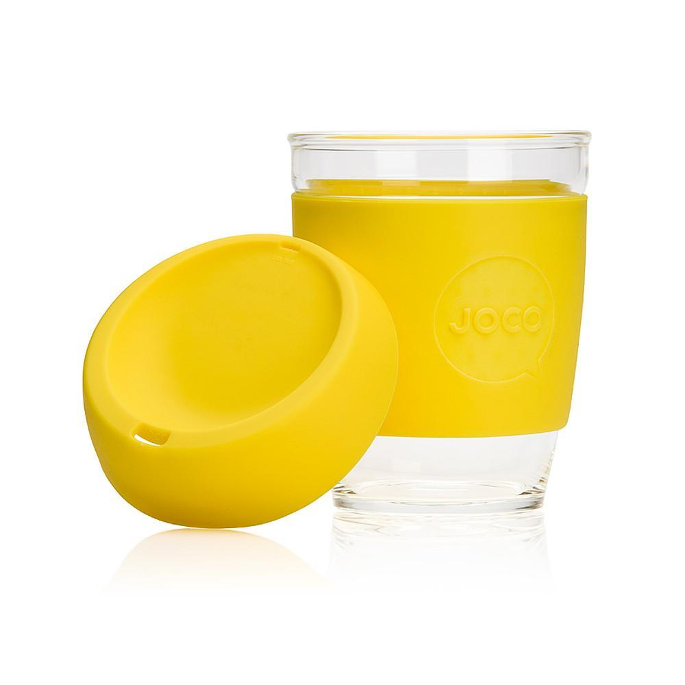 JOCO Cup Clear Coffee Cup - Yellow
