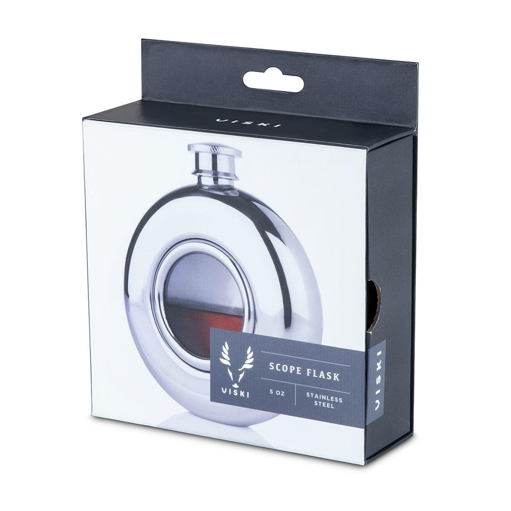 Irving Scope Flask Packaging