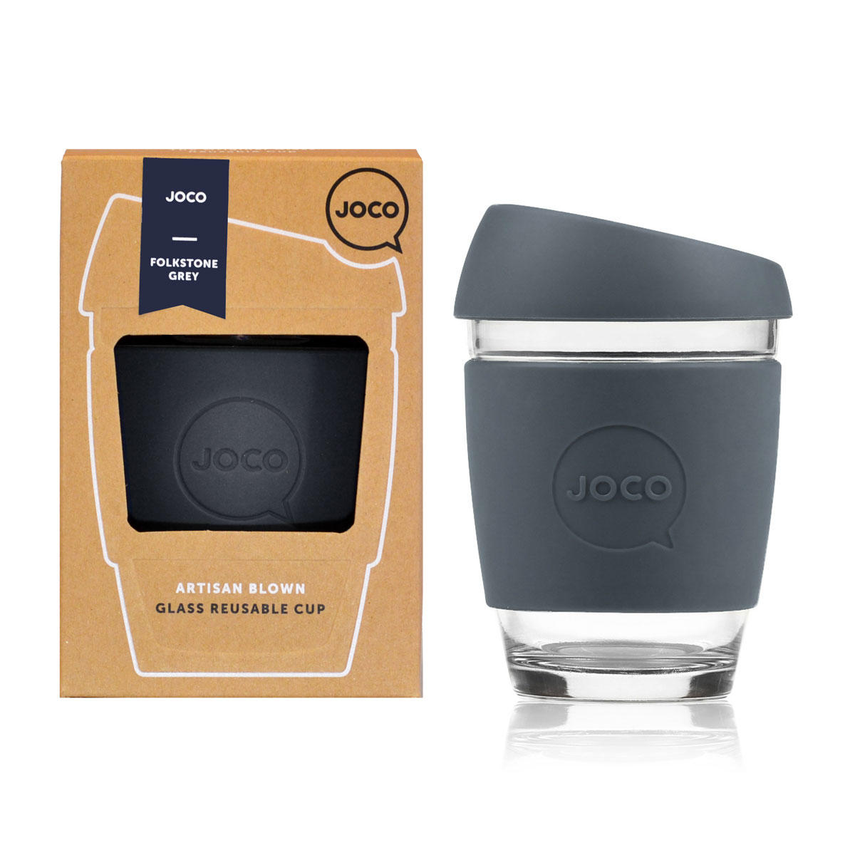 JOCO Cup Reusable Travel Mug - 12oz Folkstone Grey | Only £19.99