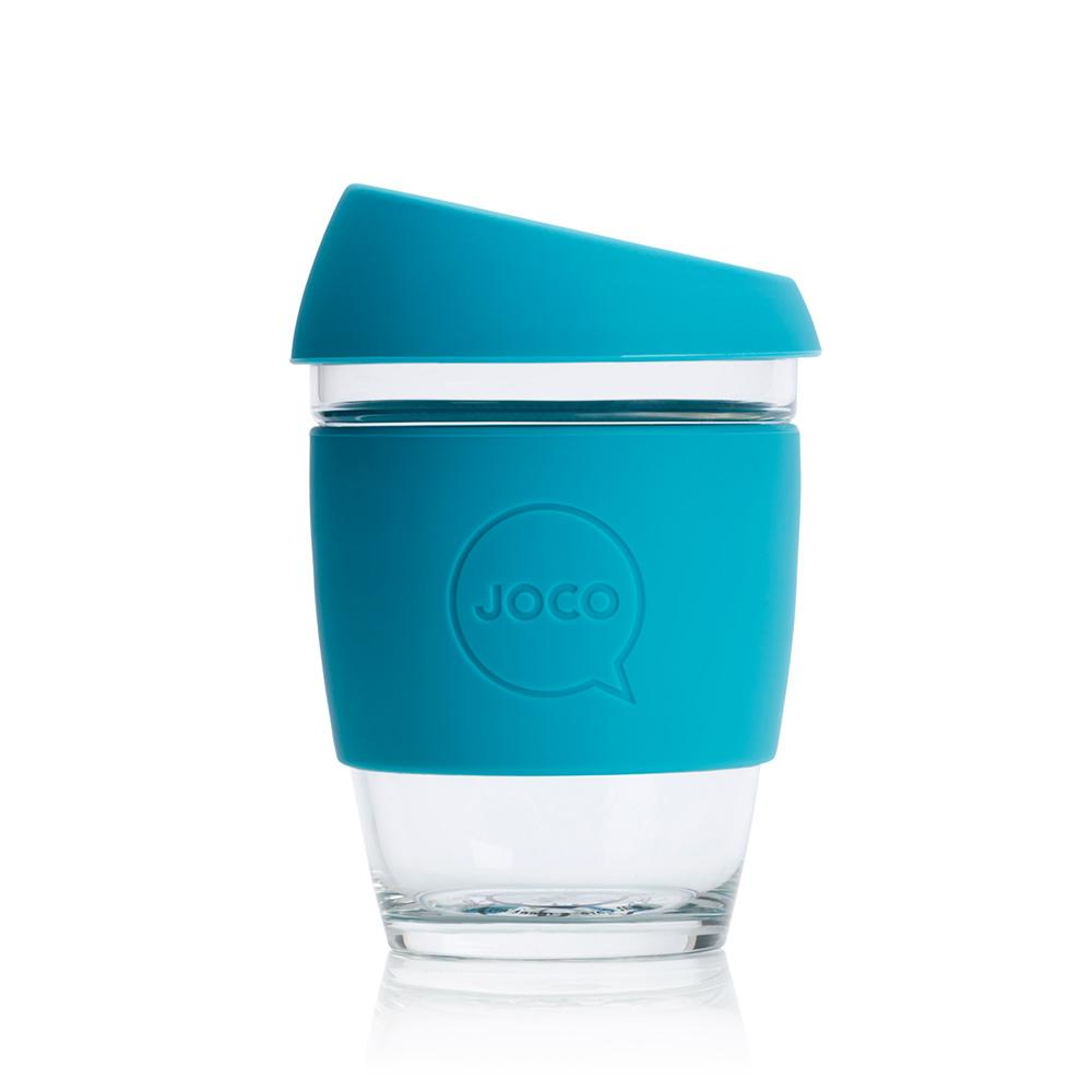 JOCO Glass Coffee Cup - Blue