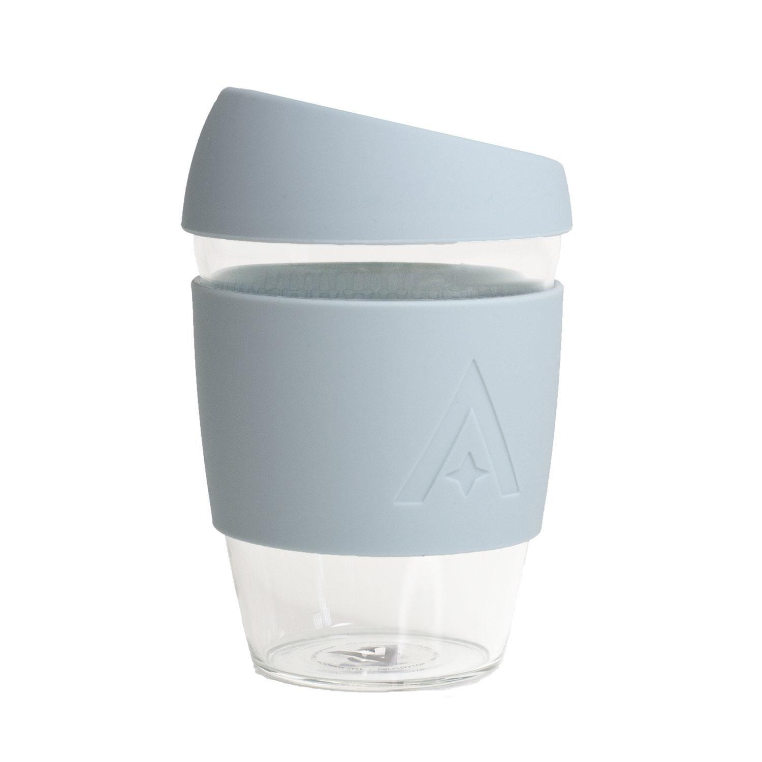 Uberstar Reusable Glass Travel Cup - Cool Blue - Only £14.99