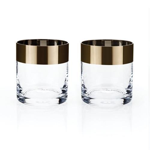 Irving Bronze Rim Whisky Glasses - Only £24.99 - Available at Uberstar.com