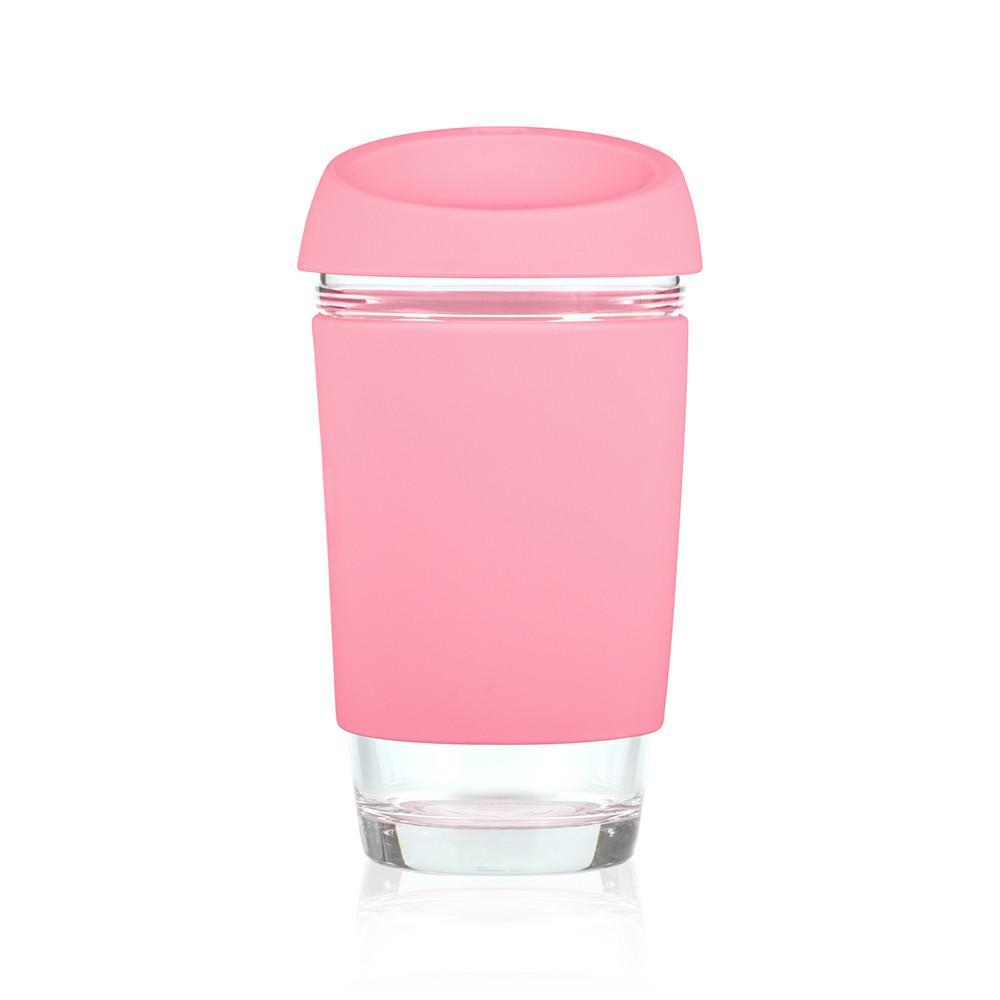 JOCO Glass Travel Mug - 16oz Strawberry Pink | Only £22.99