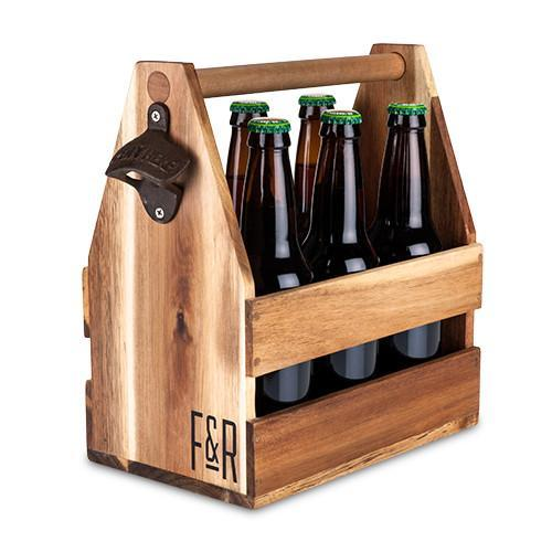 Wood Beer Bottle Caddy! Available at Uberstar.com - Only £39.99