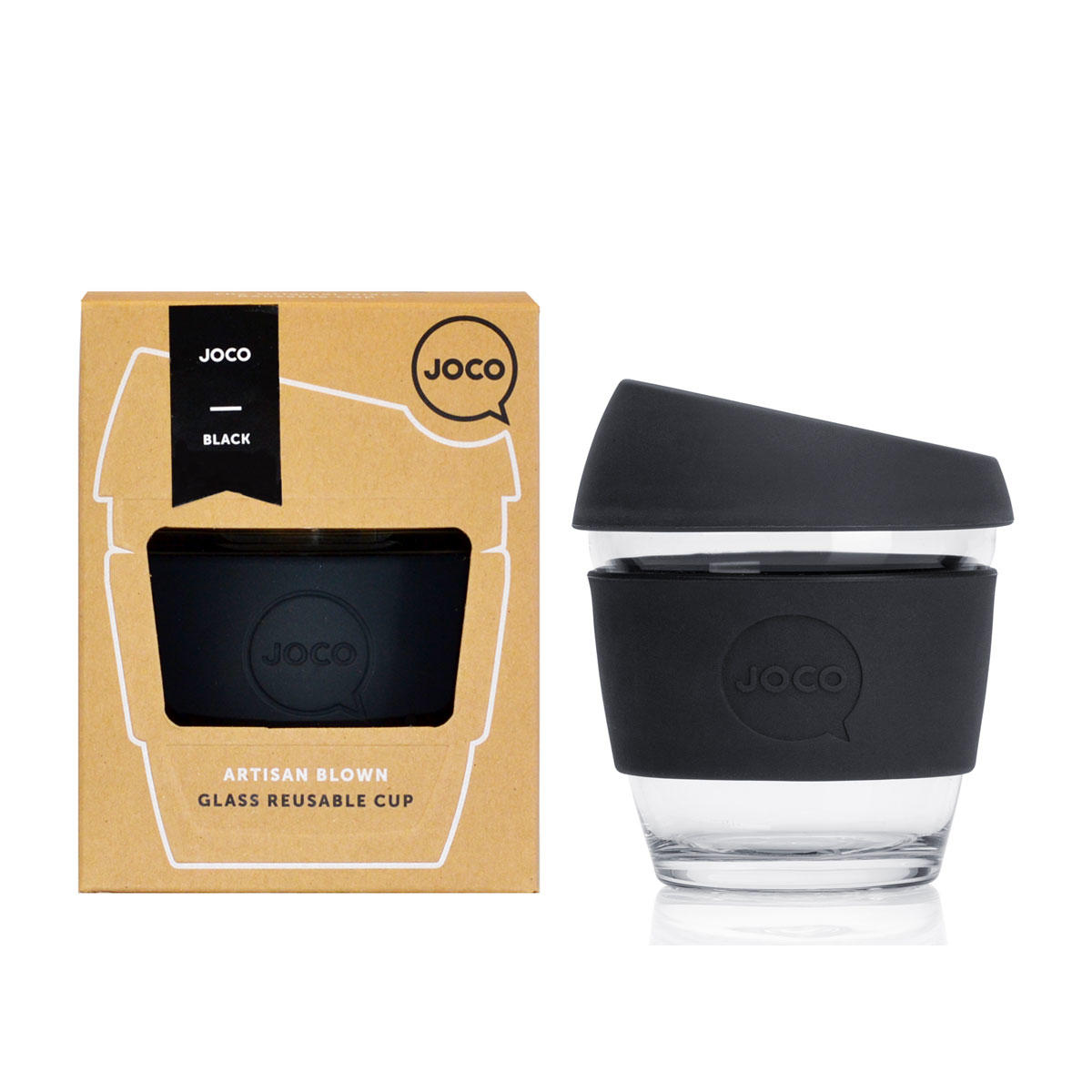 JOCO Cup 8oz Black Packaging