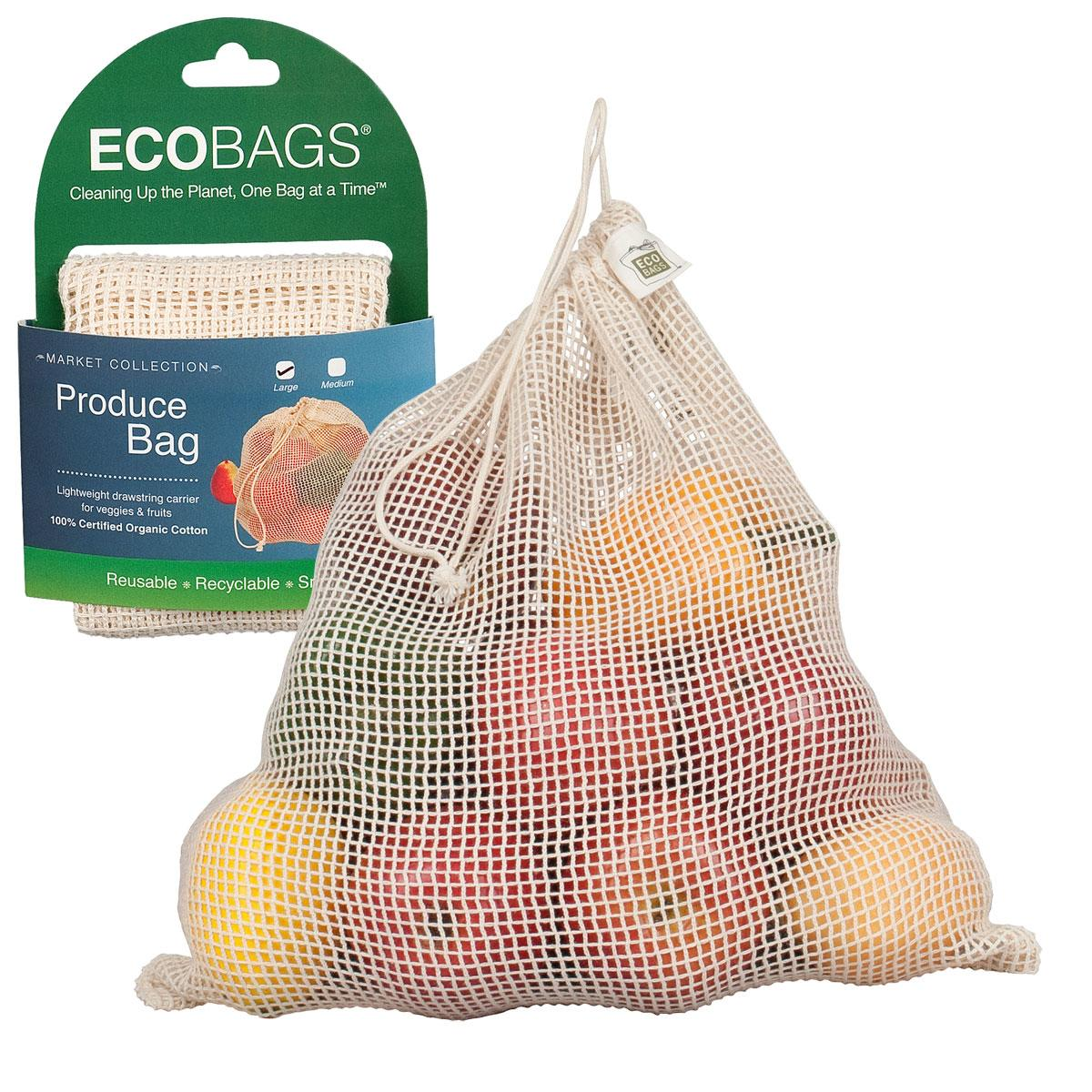 ECOBAGS Organic Cotton Net Grocery Bag - Large