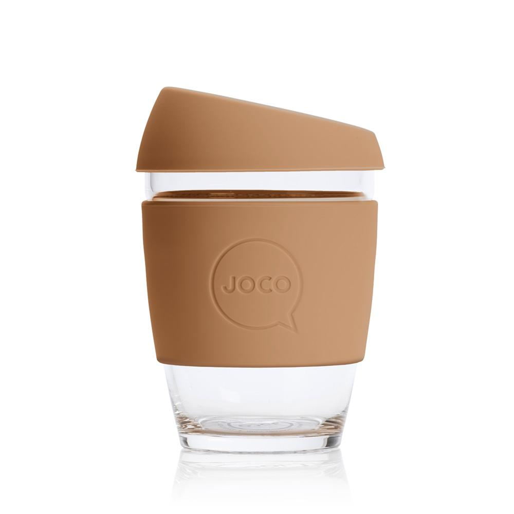 JOCO Reusable Glass Travel Coffee Cup - 12oz Butterum