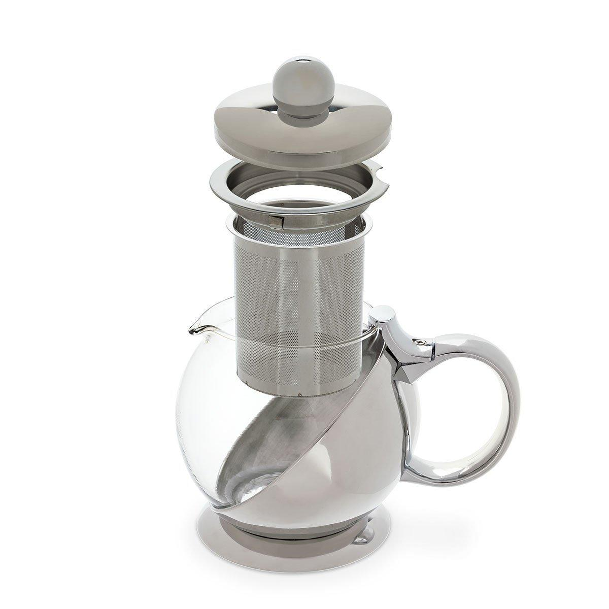 Shelby Stainless Steel Wrapped Teapot and Infuser - Only £34.99