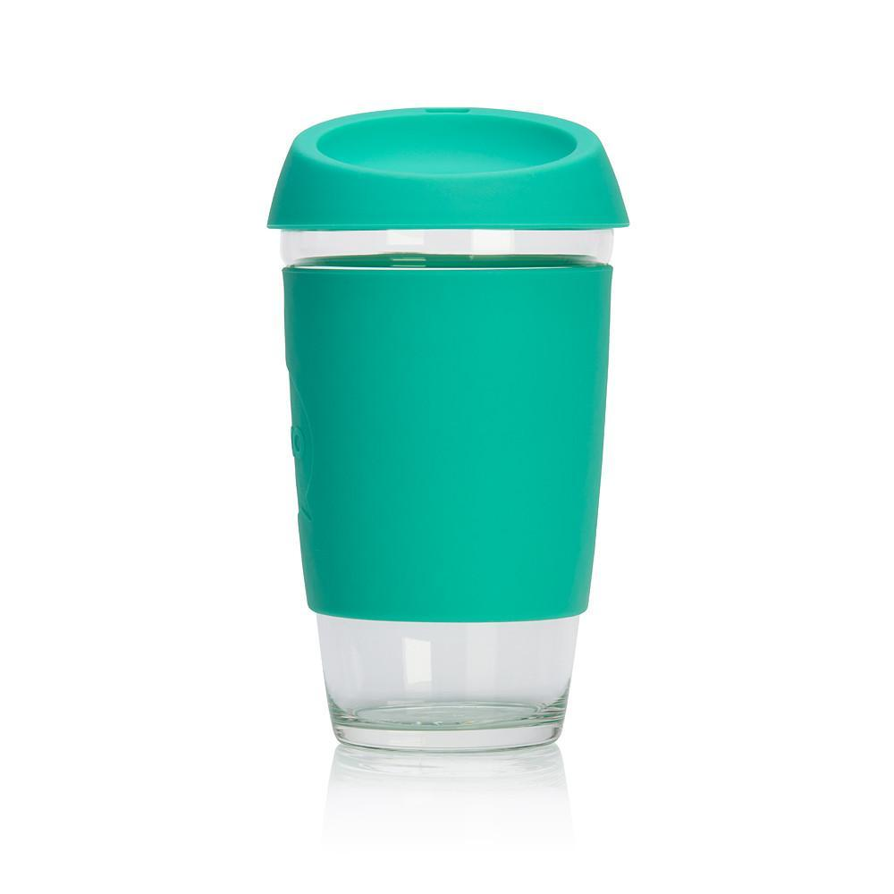 JOCO Reusable Glass Coffee Cup 16oz Mint