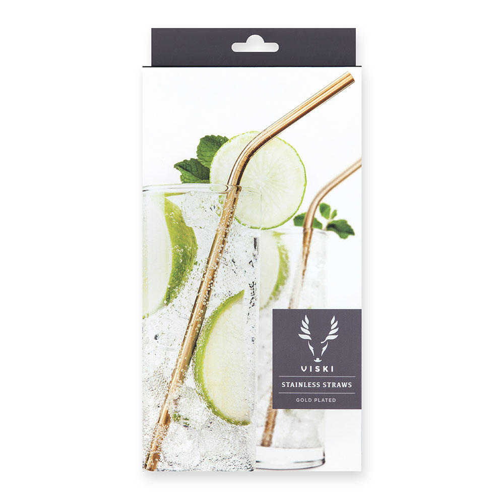 Belmont Gold Eco Cocktail Straws