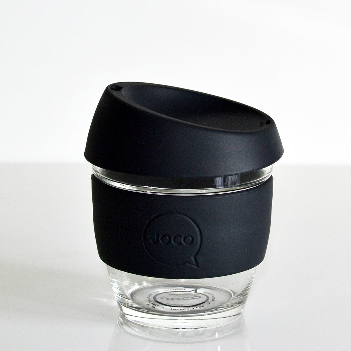 JOCO Cup 8oz Black Glass Coffee Cup