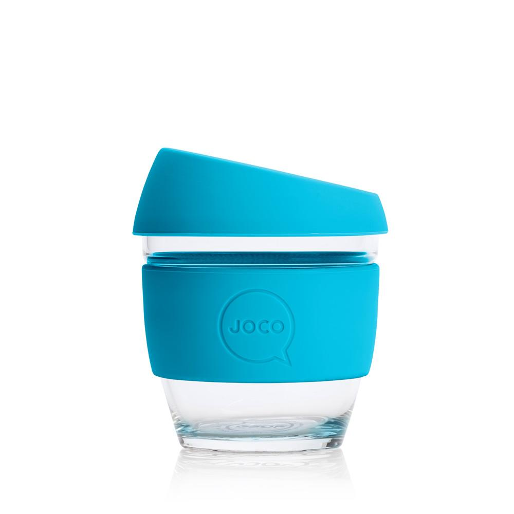 JOCO Cup 8oz Blue Glass Coffee Cup