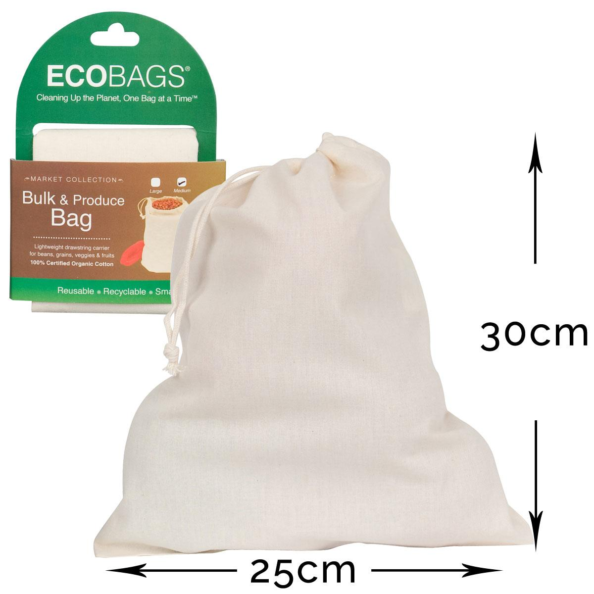 ECOBAGS Reusable Cotton Grocery Bag - Measurements