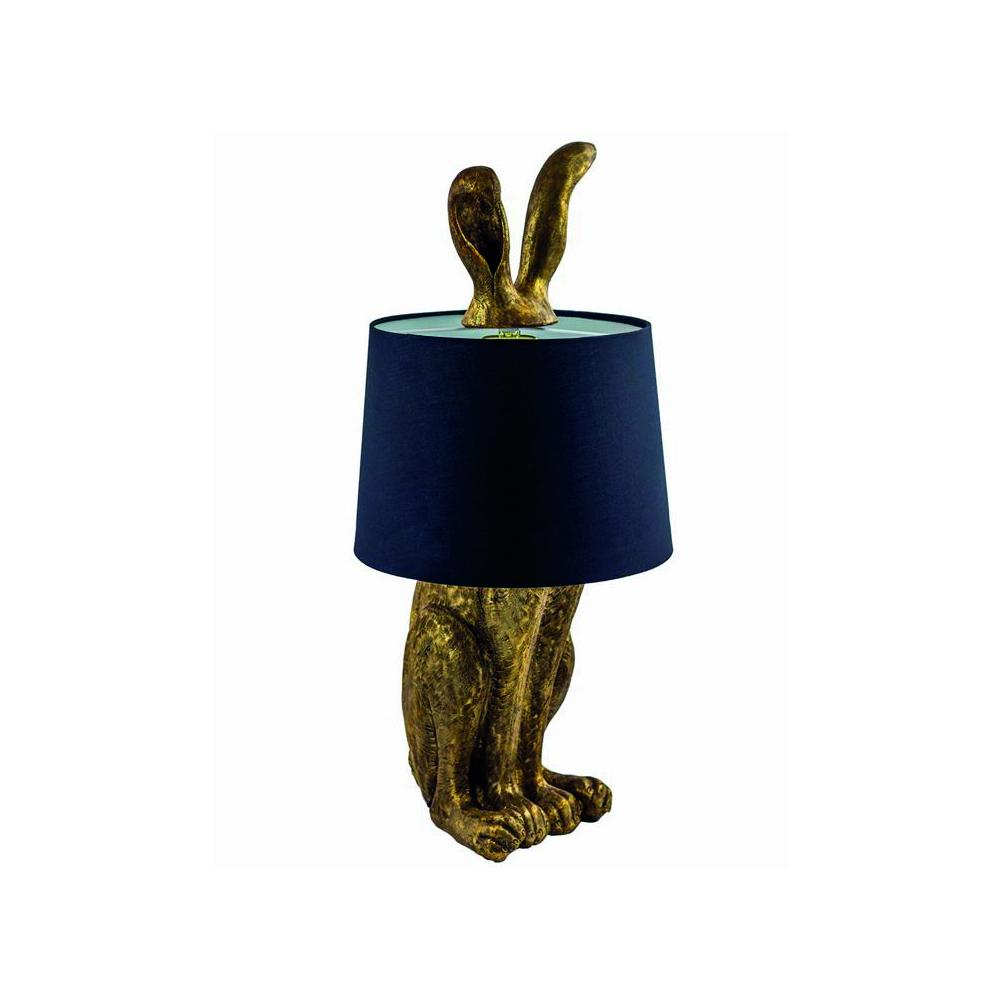 Gold Sitting Hare Lamp