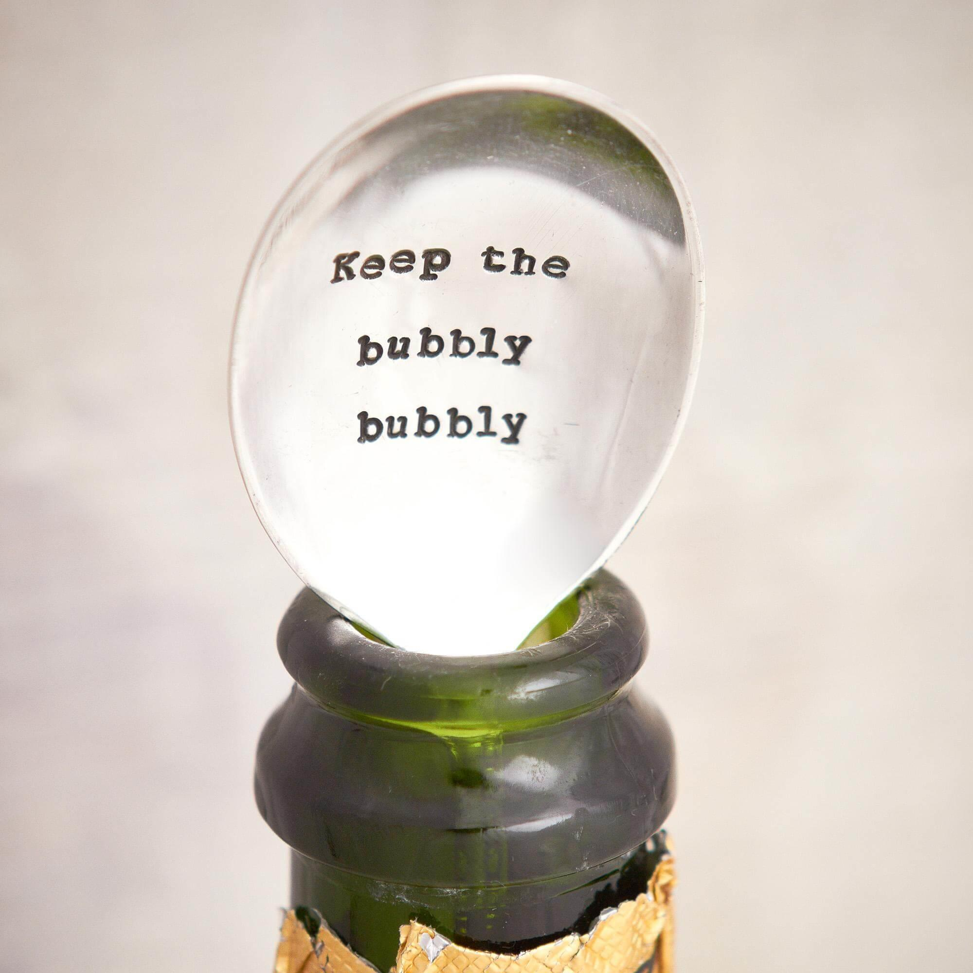 Keep The Bubby Bubbly Silver Spoon