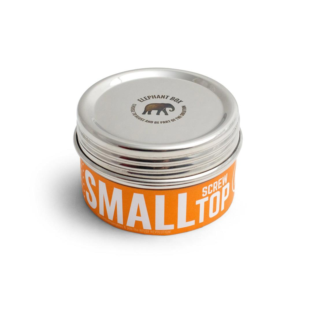Elephant Box Small Twist Stainless Steel canister - Round 300ml - with wrapping