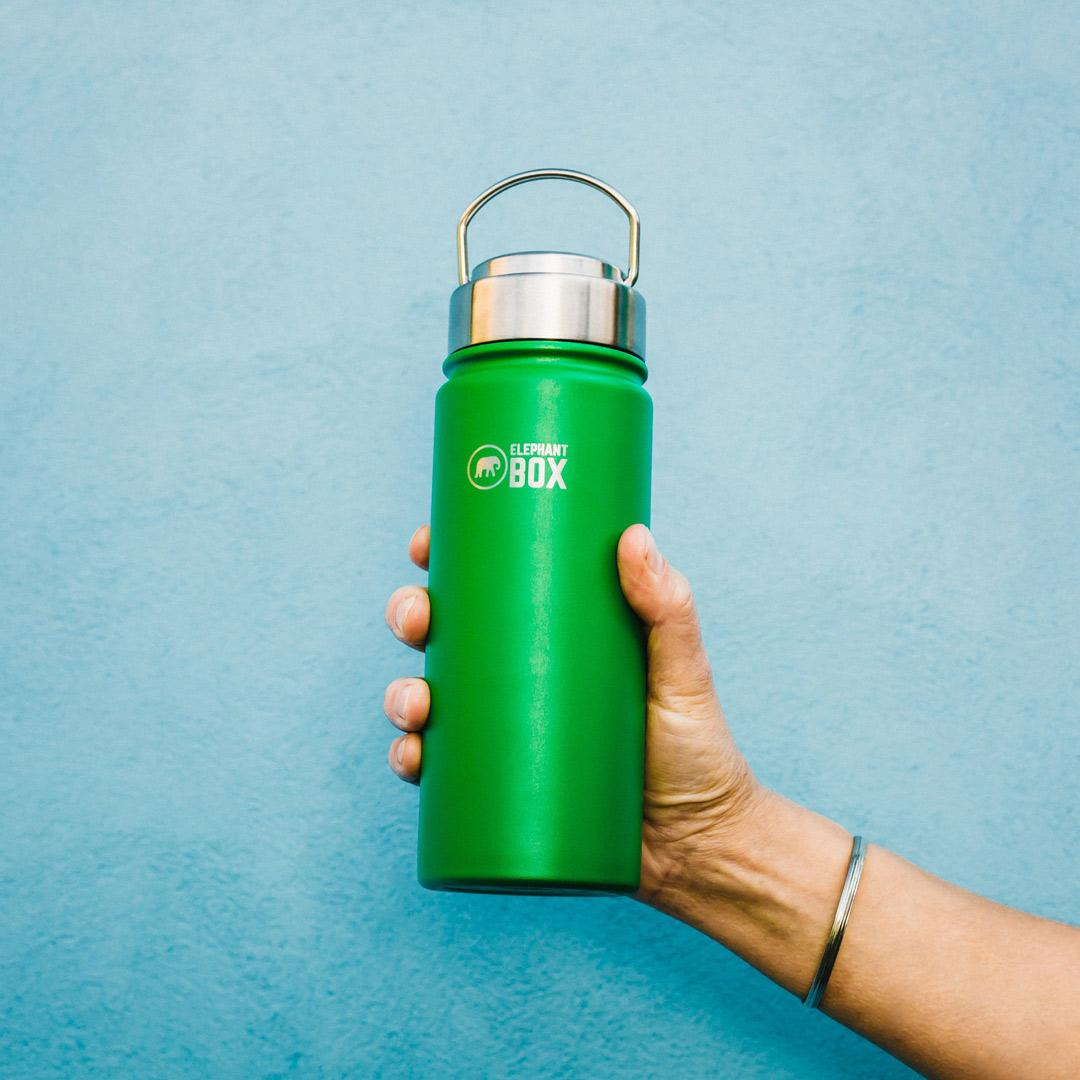 Elephant Box - Wide Mouth Insulated Bottle Green - 500ml