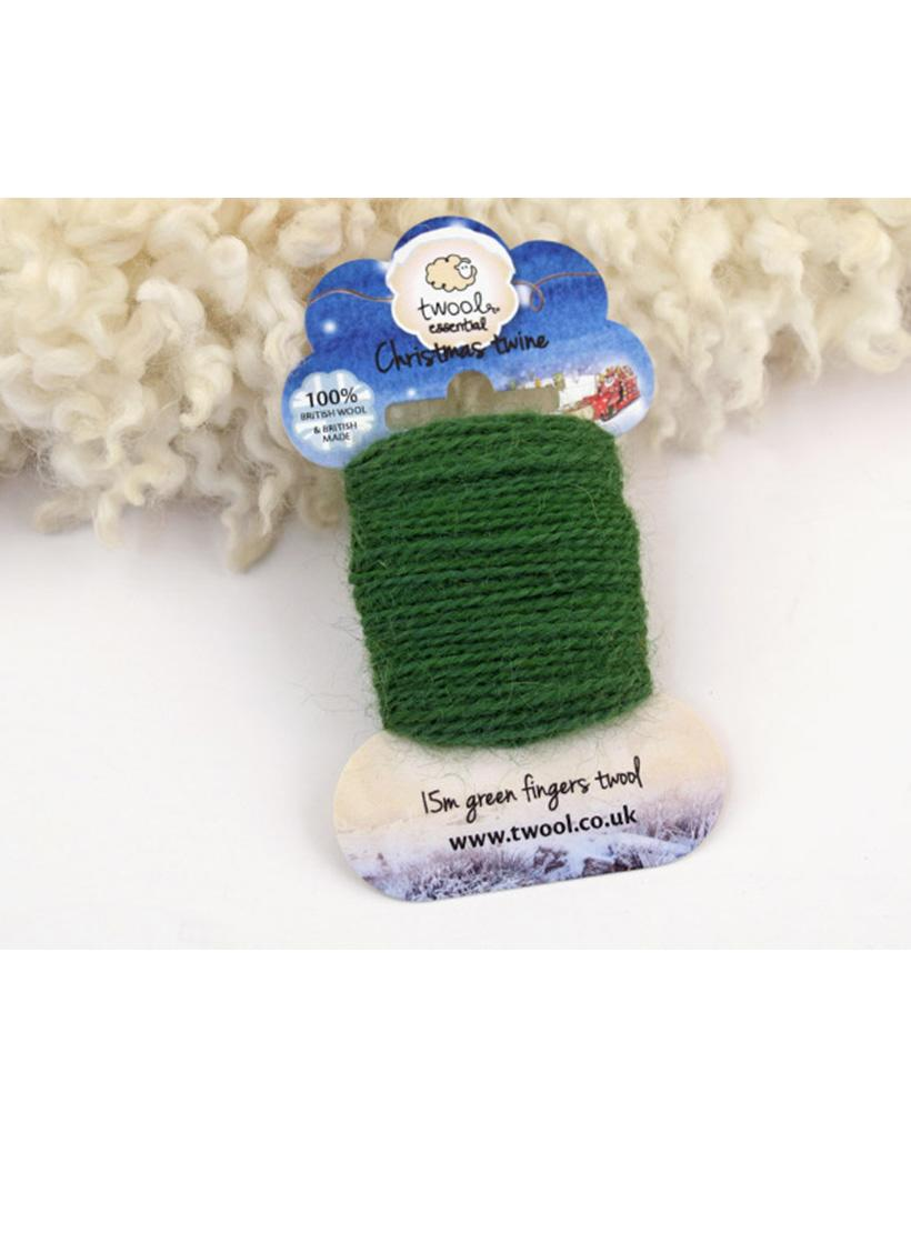 Twool Christmas Green Twine - 15m card