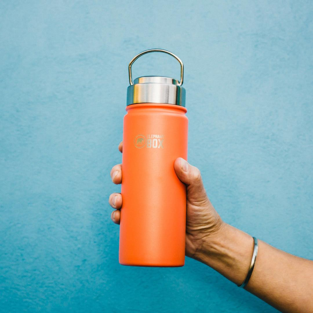 Elephant Box - Wide Mouth Insulated Bottle Orange - 500ml