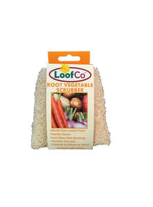 LoofCo root vegetable scrubber in packaging