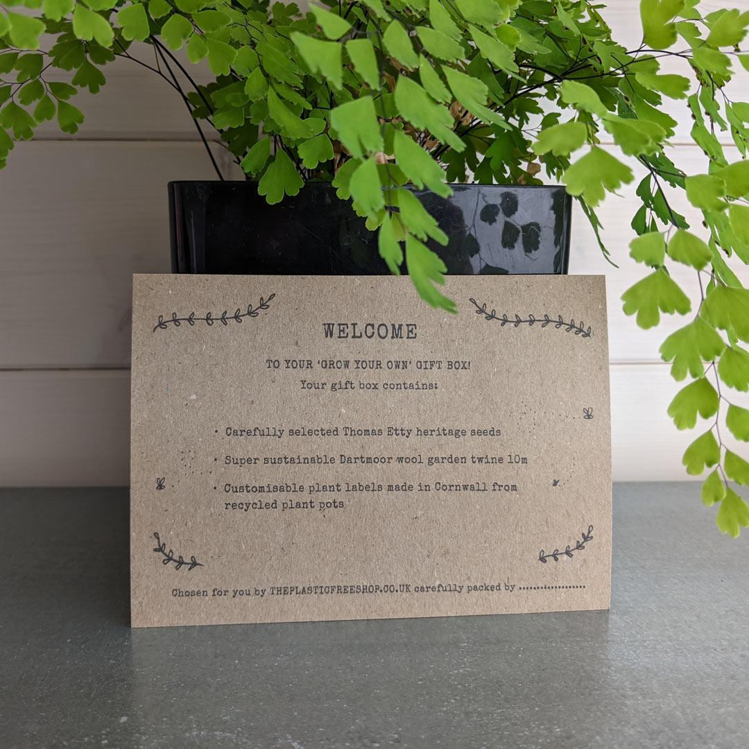 'Grow Your Own' Gift Box - Tomato information card