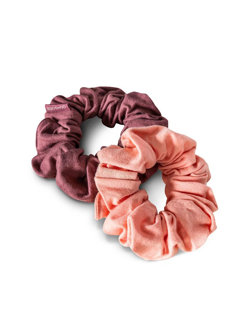 Organic Plastic Free Scrunchies - Pack of 2 - Coral Rose no pack